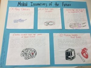 This is the poster that my group and I made about medical innovations of the future.