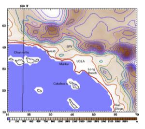 LA Topographic Map
