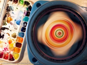 This is just an example o what inspired us, we did not create this spin art machine.