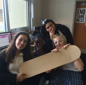 Our 2nd skateboard after we learned from our mistakes.