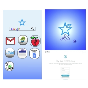 These are a couple parts of the app that were designed on Adobe Illustrator, and the website we used, Proto.io.